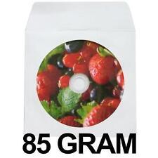 100-pk Generic White Color CD DVD Disc Paper Sleeves Envelope Holder 85 Gram