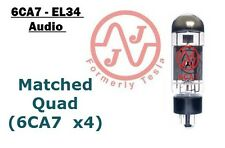 (4x) NEW 6CA7 (EL34) JJ / Tesla Audio Output Tubes - VERIFIED MATCHED QUAD