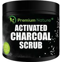 Activated Charcoal Exfoliating Body Scrub 10 Oz Face Hand Lip Foot & Body