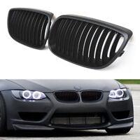 2x Black Front Kidney Grill Grille For BMW E92 E93 M3 3 Series 2D Pre-LCI 06-10