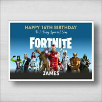 Personalised Fortnite Birthday Card - Girl or Boy - Any Name and Age