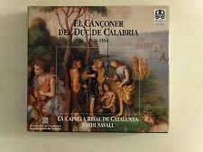 CD EL CANCONER DEL DUC DE CALABRIA LA CAPELLA REIAL DE CATALUNYA SAVALL  (cacd3)