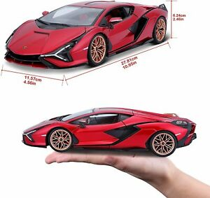 Lamborghini Sian FKP 37 Red with Copper Wheels 1/18 Diecast Model Car by Maisto