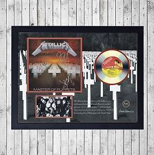 METALLICA MASTER OF PUPPETS CUADRO GOLD O PLATINUM CD EDICION LIMITADA. FRAMED