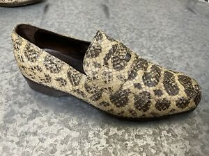 Versace Genuine Python Mens Loafers Size 9 - 9.5 US