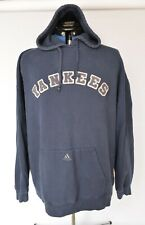 New York Yankees Embroidered Adidas Blue Hoodie Pullover Sweatshirt Men's XL