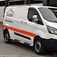 MARCHE-PIEDS X2 INOX POUR  FORD TRANSIT CUSTOM 2013- CHASSIS COURT