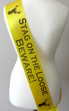 Stag Night Sash, Party, Stag Do Groom Bachelor Party Accessories, - Yellow/Loose