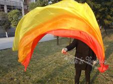 2pcs 2.3m*0.9m light silk, red/orange/yellow belly dance silk veil poi, rolled