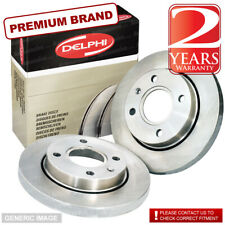 Rear Delphi Brake Discs 262mm Solid Pair Set Fits Mitsubishi Lancer Cargo 1.6