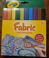 Crayola Fabric Markers 10 Nontoxic Markers Give Clothes A Personal Touch