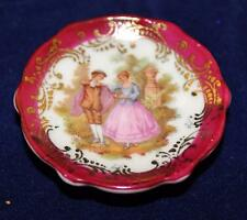 "Limoges France - Mini Decorative Dish - 2 1/8"" - Lovers"