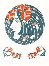 Painting Secession Graphic Benirschke Die Quelle The Source Art Print Lf2218
