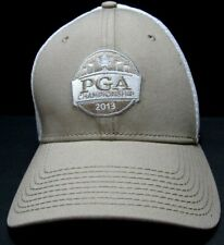 New Era 39Thirty PGA Championship 2013 Golf Cap Hat Tan White Mens Med Lg M  L 271a02d744a5