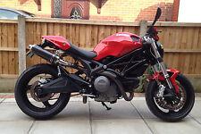 Ducati Monster M796 09+ Demon Slash Carbon Fibre Round XLS Exhausts