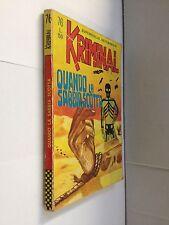 EDIITORIALE CORNO - KRIMINAL N.76 QUANDO LA SABBIA SCOTTA - BUONO -