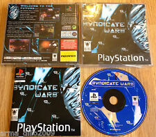 SYNDICATE WARS for SONY PS1, PS2 & PS3 COMPLETE by Bullfrog WITH FREE P&P
