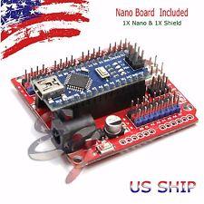 NANO I/O Expansion sensor Shield RED Module and Arduino UNO R3 Nano V3.0 board