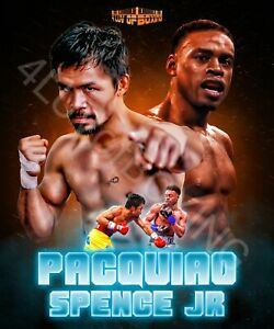 Manny Pacquiao vs Errol Spence Jr 4LUVofBOXING Poster new Boxing wall art