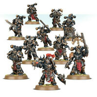 Warhammer 40k Chaos Space Marines new on sprue with bases