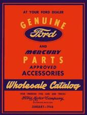 1938 1944 1945 1946 Ford Car Truck Mercury Parts Numbers Book Interchange