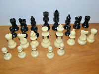 "VINTAGE PLASTIC CHESS PIECES REPLACEMNT PARTS 3 3/4"" TALL KINGS 3.75"""