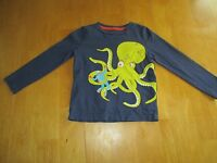 MINI BODEN BOYS APPLIQUED OCTOPUS SHIRT SZ. 3-4 Y
