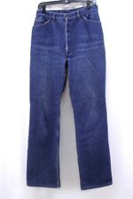vintage 70s indigo denim LEVIS 517 flannel fleece lined jeans orange tab 30 x 32