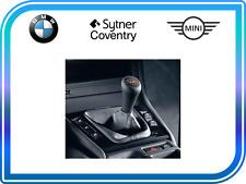 GENUINE BMW E46 M3 CUIR NOIR Lumineux 6-Vitesse Gear Stick Shift Knob RHD