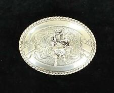 Crumrine Western Mens Belt Buckle Bull Rider Silver 3806441