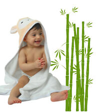 Organic Bamboo Hooded Baby Towel Ultra Soft For Infant Newborn and Todller