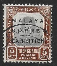 Trengganu 1922 Malaya-BORNEO exhibición 5 C Gris y marrón SG 50 (bien usada)