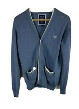 Boys Gant Cardigan XL Age 13-14 Years Blue Button Up Extra Large Kids Teens