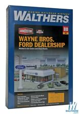 Walthers #933-3483  Wayne Bros. Ford Dealership  - Building kit HO Scale