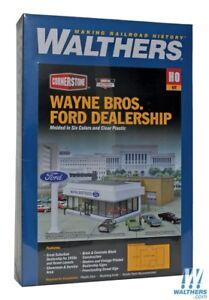 Walthers #933-3483 Wayne Bros Ford Dealership - Building kit HO