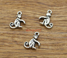 50 Monkey Charms Zoo Bulk Charms Jewelry Finding Antique Silver Tone 13x17 1863