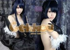 Anime Accel World Kuroyukihime Cosplay Long Straight Wig Blue black 100cm  @34