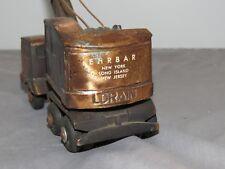 Vintage LORAIN Mobile Crane Truck BRASS Toy Paperweight EHRBAR New York Cast