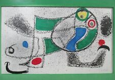 Midcentury JOAN MIRO Lithograph Pencil Signed Book Print Framed