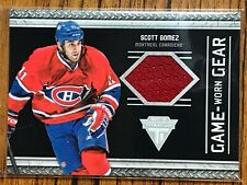 2011-12 Panini Titanium Game-Worn Gear #18 Scott Gomez Montreal Canadiens (Red)