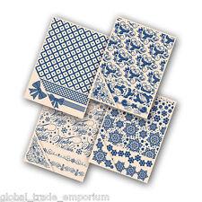 NUOVO di zecca 4x Tattered Lace natale embossing folders-tutte le quattro per solo £ 19.50