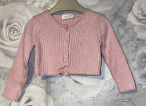 Girls Age 6-9 Months - Next Pink Cardigan - Excellent condition