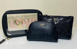 NWT Victorias Secret 3 Piece Makeup Cosmetic Travel Bag Set