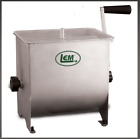 LEM  #654 Stainless Steel Meat Mixer 20lb Capacity Mixer w/ Plastic Cover