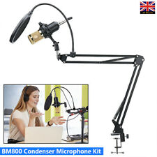 BM800 Condenser Microphone Kit Studio Audio Recording Foldable Arm Stand Mount