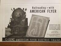 AMERICAN FLYER  RARE M2272 PREWAR 1940 TRAIN SET INSTRUCTION MANUAL - COPY