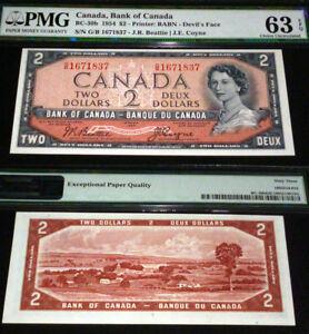 WORLD FAMOUS DEVILS FACE , 1954 $2   PMG  63  UNCIRCULATED EPQ