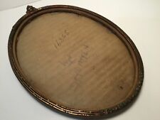 Vintage Oval Floral Handpainted Intricate Carved Wooden Frame with Glass