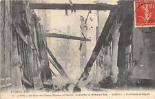 CPA 69 LYON UN COIN DE L'USINE RIVOIRE ET CARRET INCENDIEE EN 1908