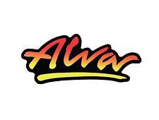 "Alva Logo skateboard sticker Authentic Alva reissue 4"" red-yellow fade / black"